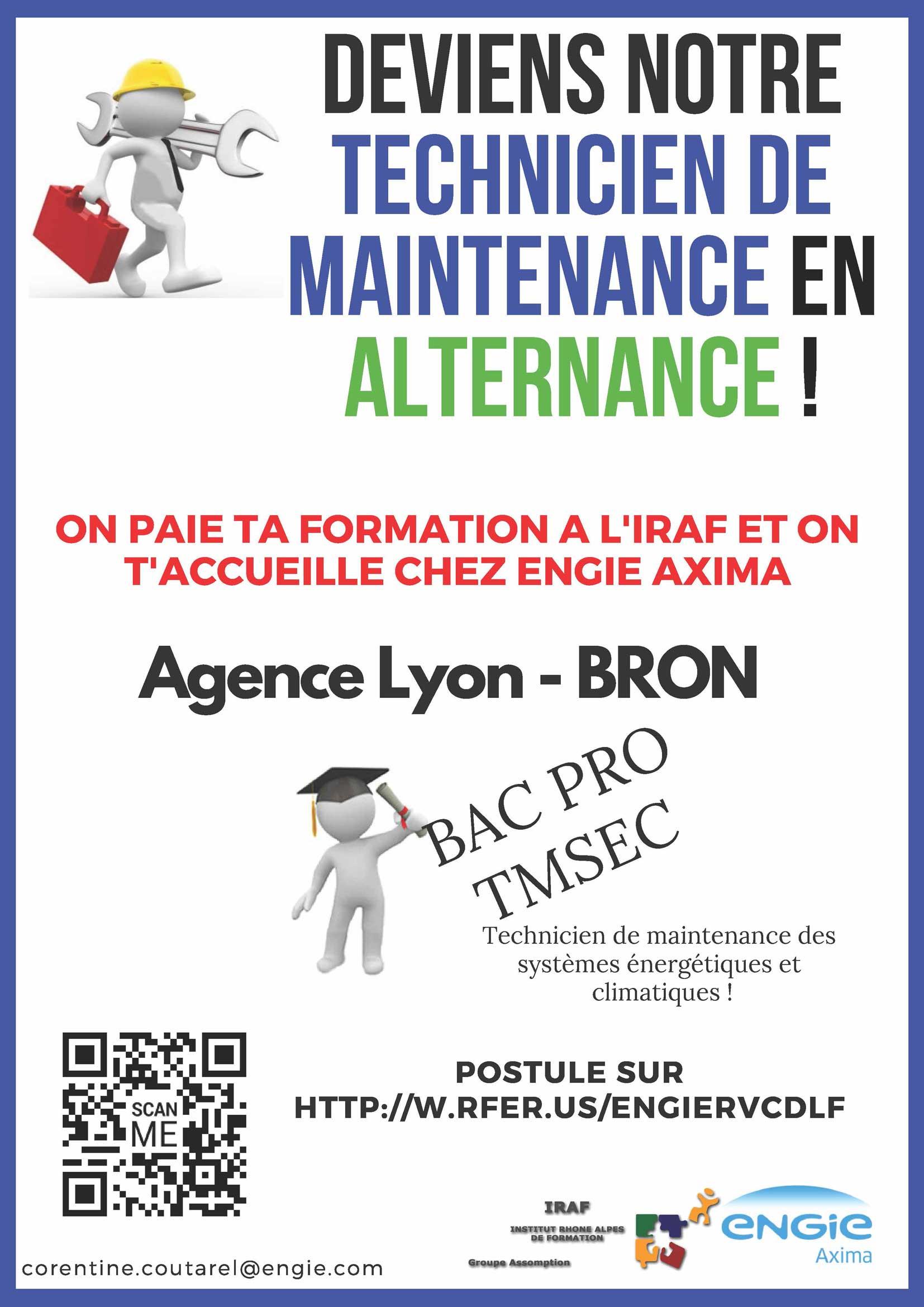 Offre Alternance BAC Pro TMSEC